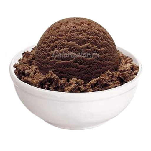 Мороженое молочное шоколадное