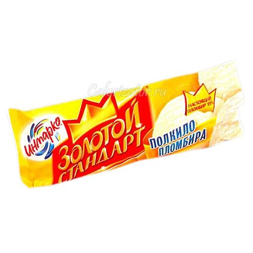 Мороженое Инмарко Золотой стандарт пломбир