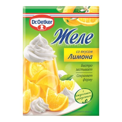 Желе Dr.Oetker со вкусом Лимона