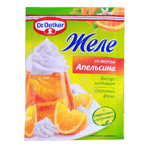 Желе Dr.Oetker со вкусом Апельсина