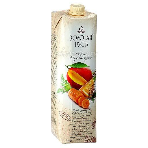 Морковный сок Золотая Русь экзотик