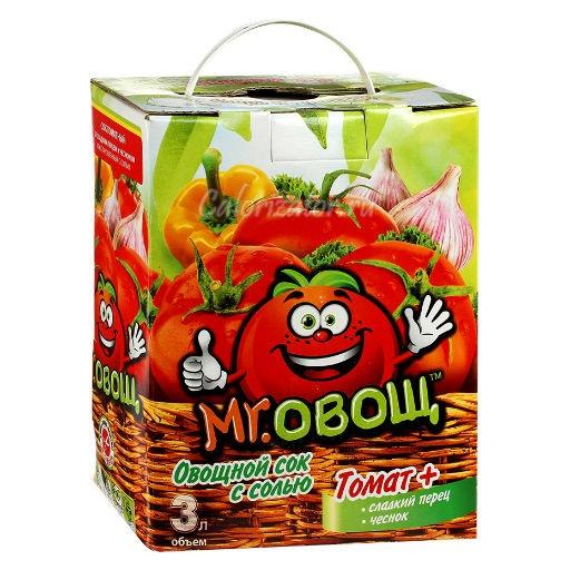 Сок овощной Mr. Овощ с солью, сладким перцем и чесноком