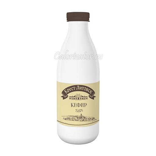 Кефир Брест-Литовск 3. 6% - калорийность, полезные свойства, польза и вред, описание.