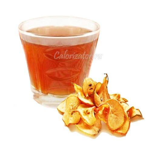 Кисель из сушеных яблок - калорийность, полезные свойства, польза и вред, описание.