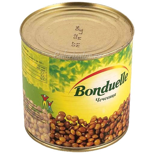 Чечевица Бондюэль консервированная
