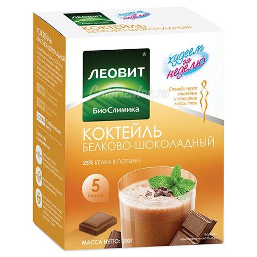 Коктейль Леовит Худеем за неделю белково-шоколадный