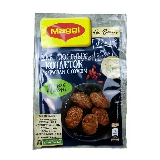 Приправа Maggi На второе для постных котлеток из фасоли с соусом