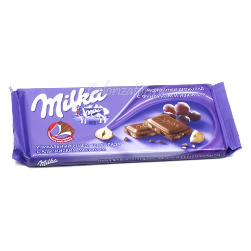 Шоколад Milka с фундуком и изюмом