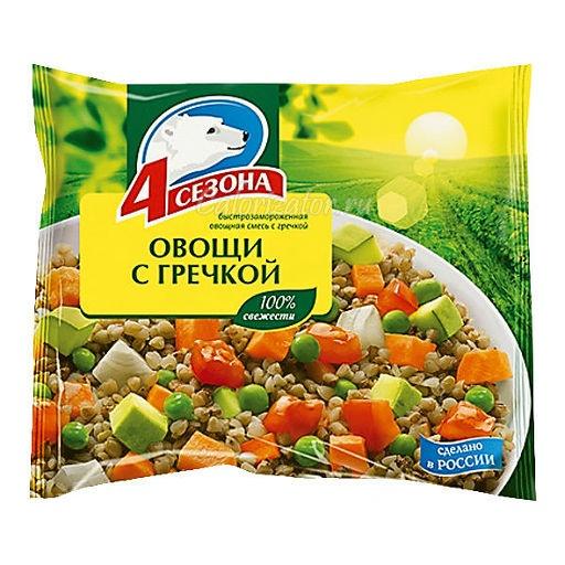 Овощная смесь 4 сезона Овощи с гречкой