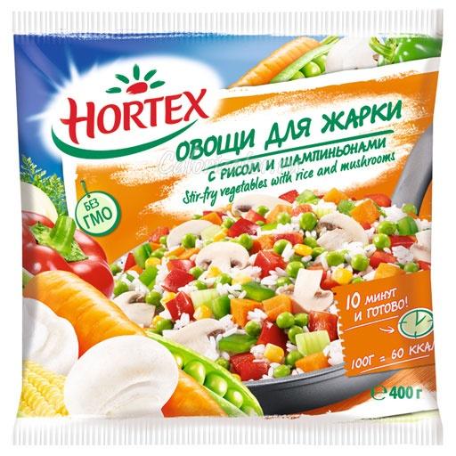 Овощи для жарки Hortex с рисом и шампиньонами