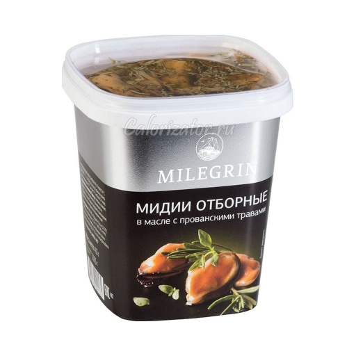 Мидии Меридиан Milegrin отборные в масле с прованскими травами