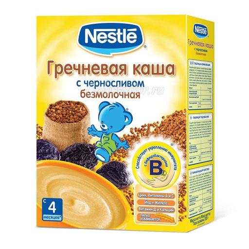 Гречневая каша Nestle безмолочная с черносливом
