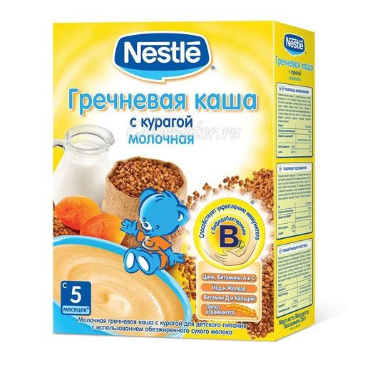 Гречневая каша Nestle молочная с курагой