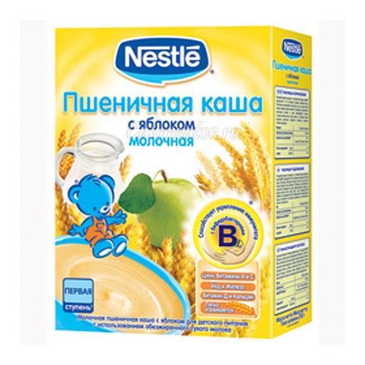Пшеничная каша Nestle молочная с яблоком