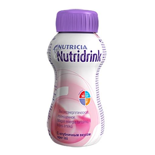 Напиток Nutridrink со вкусом клубники