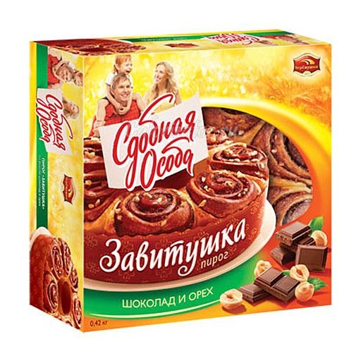 Пирог Сдобная особа Завитушка Шоколад и орех