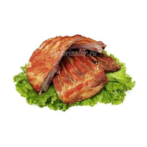 Свиные ребра копчено-вареные
