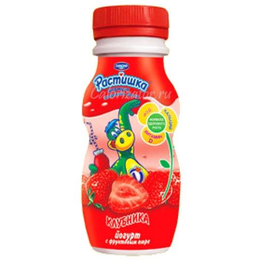 Йогурт Растишка с мякотью клубники