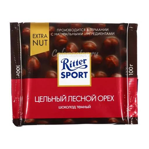 Шоколад Ritter Sport темный с цельным лесным орехом