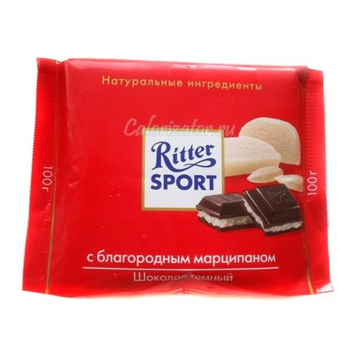 Шоколад Ritter Sport темный с благородным марципаном