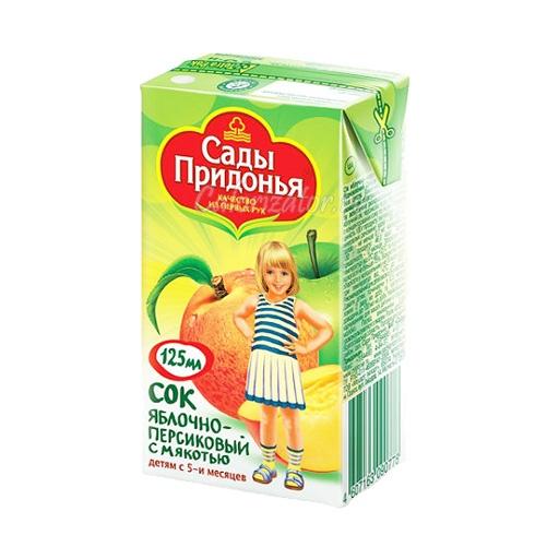 Сок Сады Придонья Яблочно-персиковый с мякотью