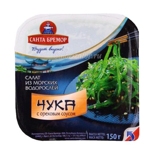 Салат Санта Бремор из морских водорослей Чука с ореховым соусом