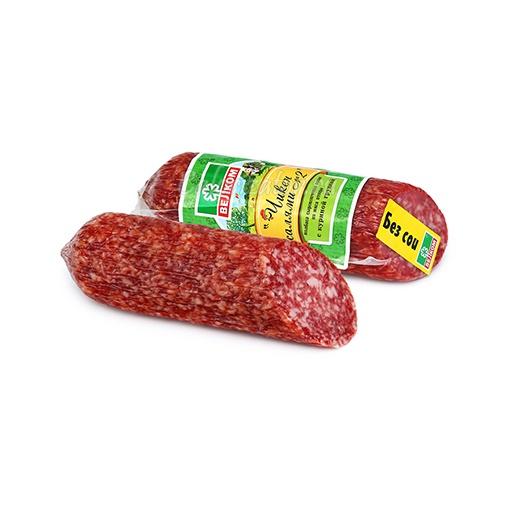 Колбаса сырокопченая полусухая Велком Чикен салями №2