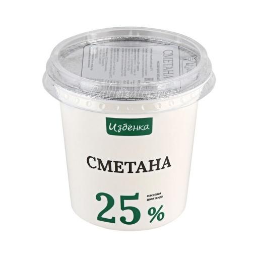 Сметана Избёнка (ВкусВилл) 25%
