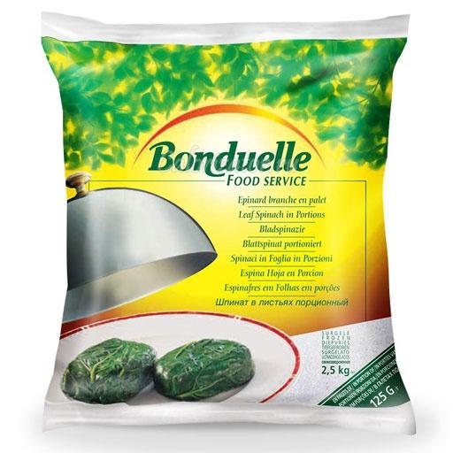 Шпинат Бондюэль в листьях порционный