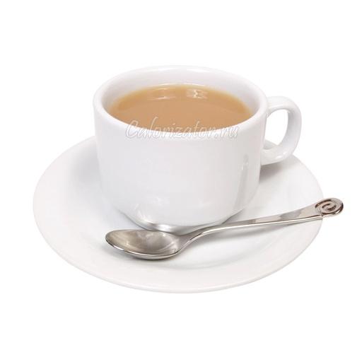 Чай чёрный с молоком 2.5% без сахара
