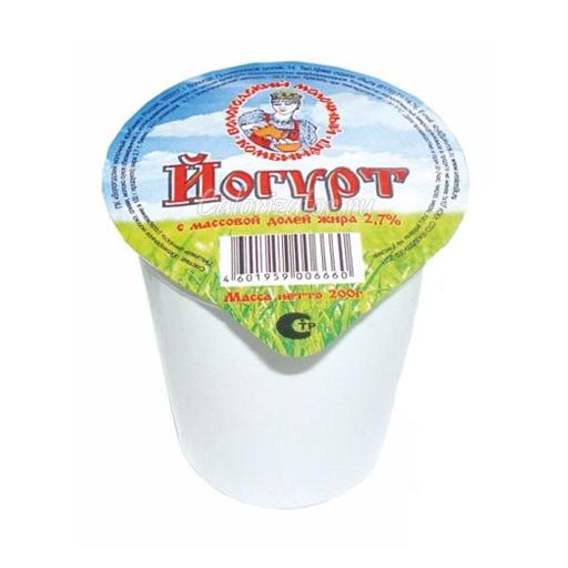 Йогурт натуральный 2.7%