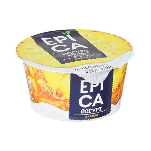 Йогурт Epica Ананас - калорийность, полезные свойства, польза и вред, описание.