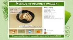 Морковно-овсяные оладьи