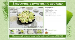 Закусочные рулетики с авокадо