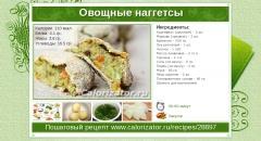 Овощные наггетсы