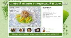 Фасолевый паштет с петрушкой и орехами