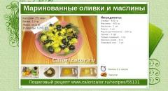 Маринованные оливки и маслины