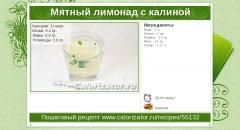 Мятный лимонад с калиной