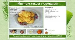 Мясные кексы с овощами
