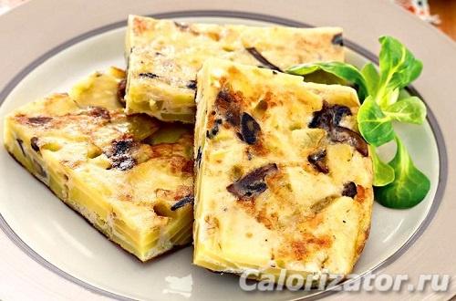 Испанская тортилья - калорийность, состав, описание.