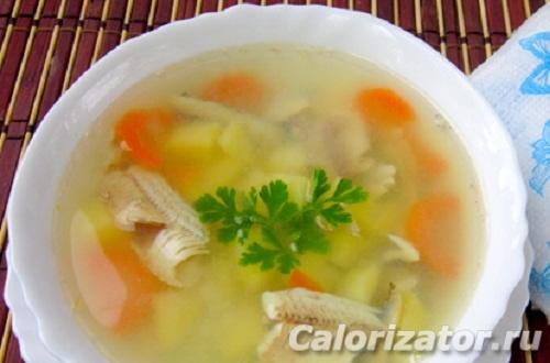Суп с мойвой