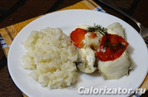 Зубатка с рисом в мультиварке