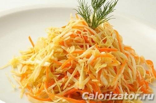 Простой салат с капустой и яблочным уксусом