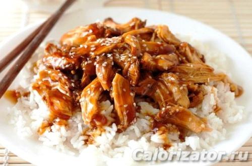 Рис с курочкой терияки