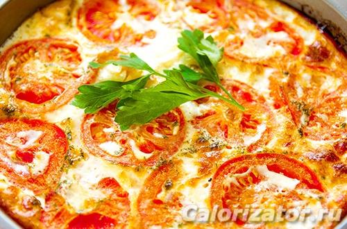 Омлет с томатом