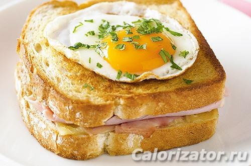 Сэндвич крок-мадам по Дюкану