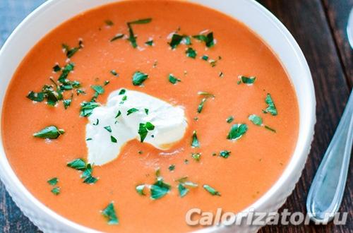 Томатный крем-суп с куркумой и йогуртом по Дюкану