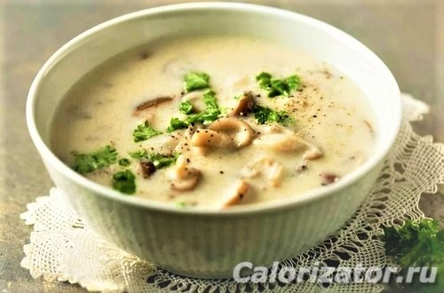 Сливочно-грибной суп ПП