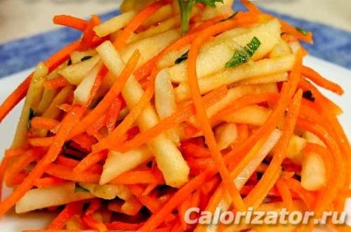 Салат из топинамбура и тыквы
