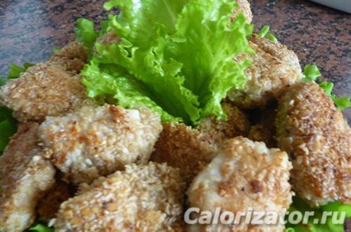 Куриные наггетсы для диеты Дюкана